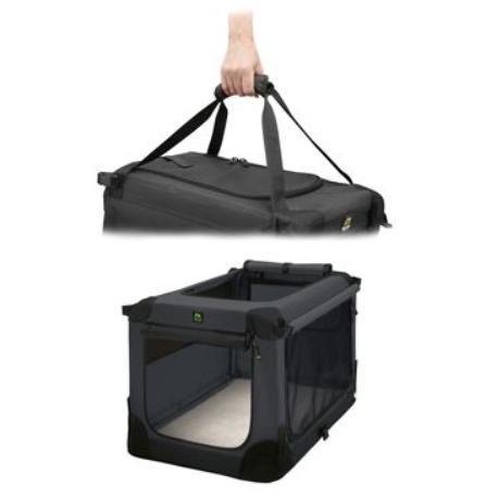 Přepravka MAELSON pro psy nylon černá M/72x51x51cm