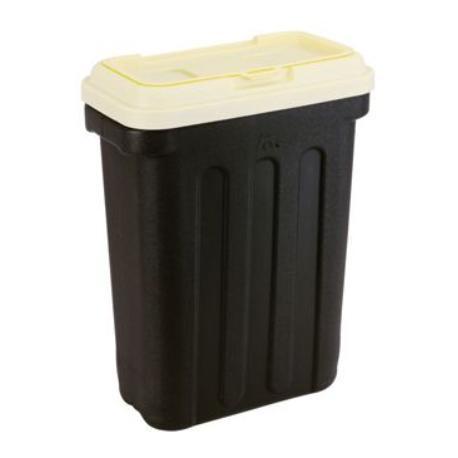 MAELSON Box na granule černá/slonová kost 15kg