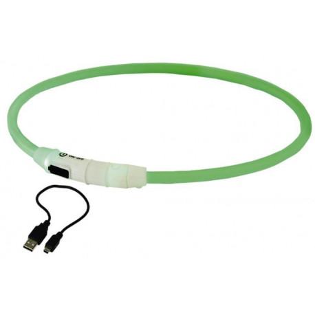 Nobby LED svítící kroužek na krk pro velké psy zelená L 65cm
