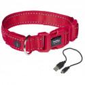 Nobby Flash Mesh LED svíticí obojek červený vel. S-M