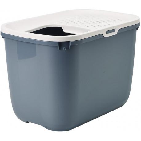 Savic Hop In toaleta pro kočky s horním vstupem modrá 59x39x38cm
