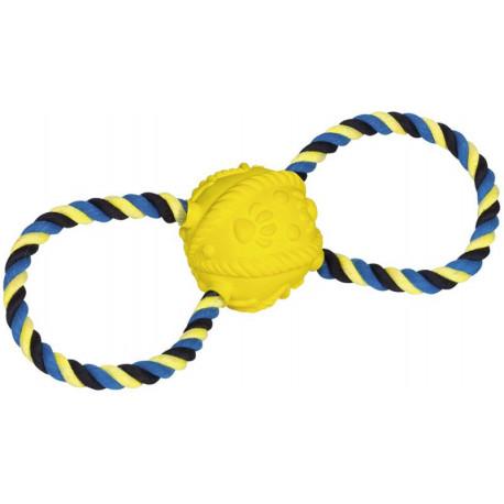 Nobby hračka pro psy latexový míč s lanem 31cm