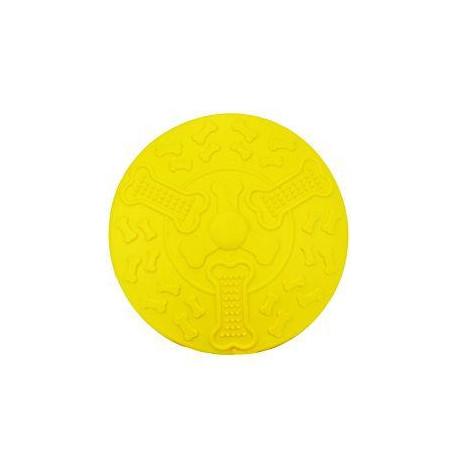 Hračka pes Létající talíř KIDDOG 19cm  žlutá 1ks