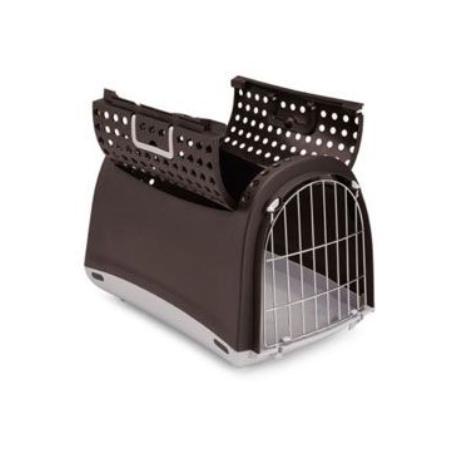 Přepravka pro kočky a psy Cabrio Hnědá IMAC