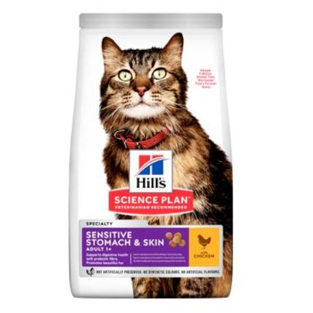 Hill's Fel. Dry Adult Sensit.Stomach&Skin Chicken 7kg