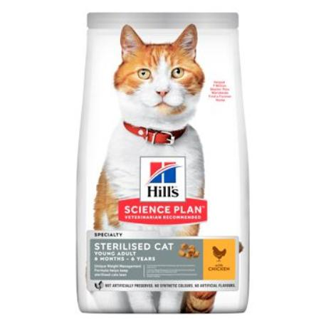 Hill's Fel. Dry Adult Young Sterilised CatChicken1,5kg