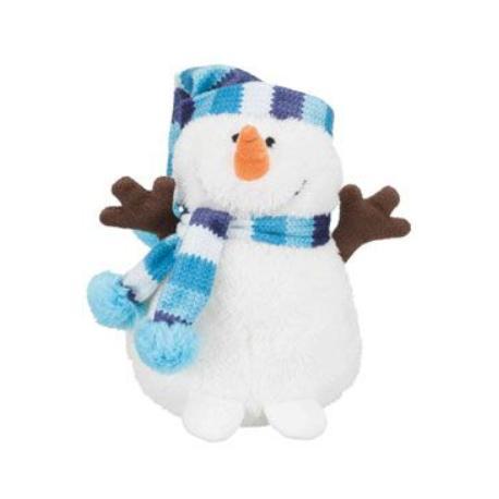 Vánoční Sněhulák s modrou šálou 17cm TR 1ks