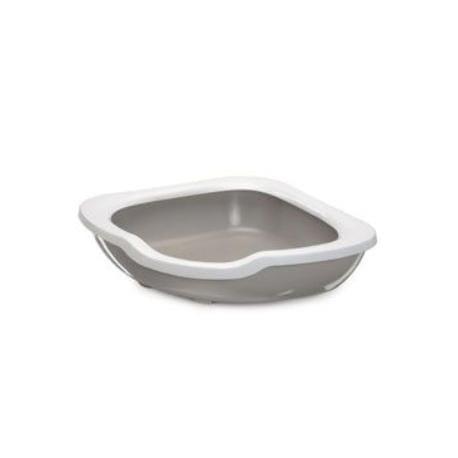 WC kočka rohové s vysokým okrajem béžová 51x51x15,5cm
