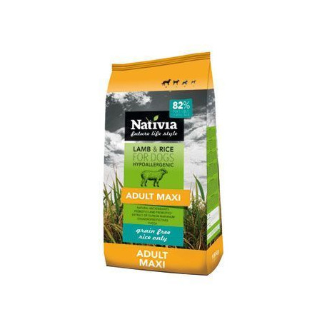 Nativia Dog Adult Maxi Lamb&Rice 15kg