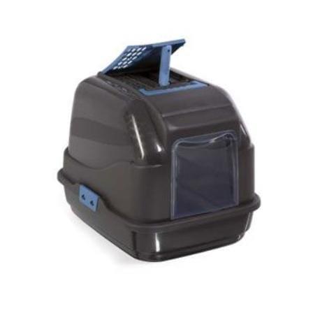 WC kočka kryté recykl.plast s filtrem a lopat. černá