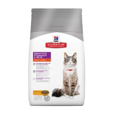 Hill's Feline Dry Sensitive Stomach Skin s kuřete1,5kg