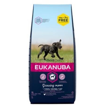 Eukanuba Dog Puppy Large 18kg BONUS