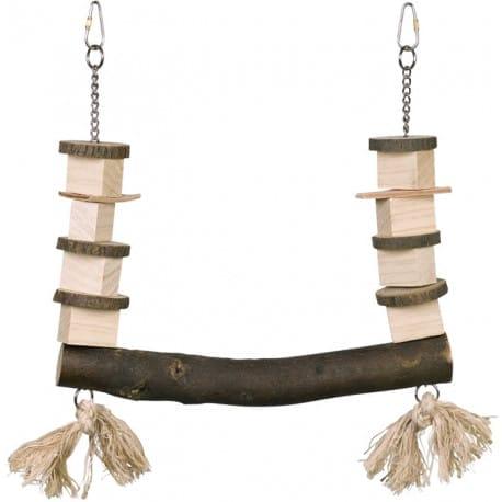 Nobby dřevěná houpačka pro papoušky 30 x 37 cm