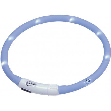 Nobby Led Puppy svítící kroužek silikon světle modrá 45cm