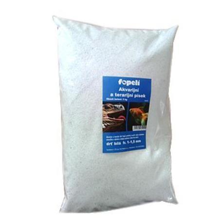Písek akvarijní a terarijní bílý drť 1-1,5mm 3kg Fopel