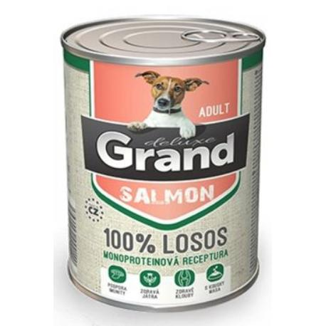 GRAND konz. pes deluxe 100% losos adult 400g