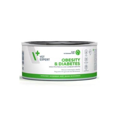 VetExpert VD 4T Obesity and Diabetes Cat konzerva 100g