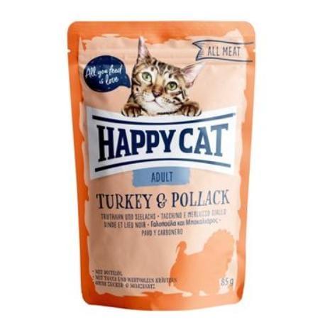 Happy Cat kapsa All Meat Adult Truthahn&Seelachs 85g