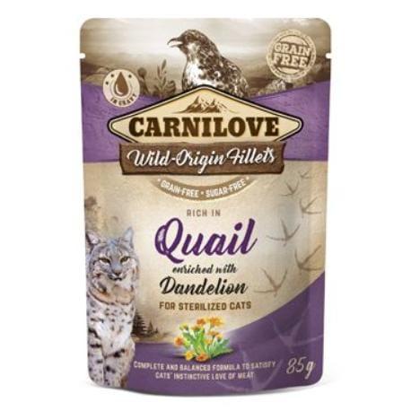 Carnilove Cat Pouch Quail & Dandelion sterilized 85g