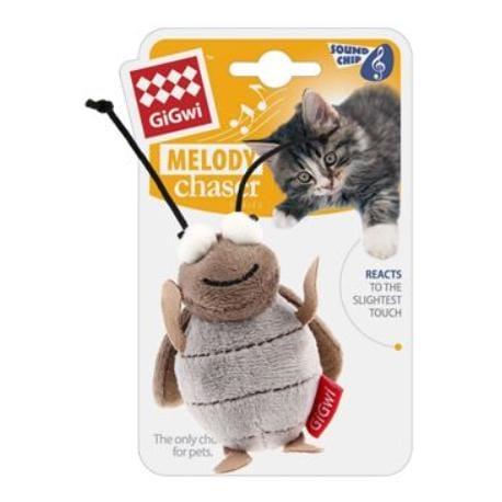 Hračka kočka Cvrček se zvukovým čipem GiGwi