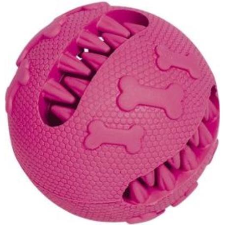 Nobby hračka dentální míč pro psy 7 cm růžový