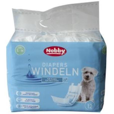 Nobby papírové pleny pro psy S-M 30-46cm (12 ks)