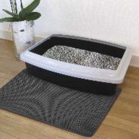 Nobby siťovaná rohož před kočičí toaletu 30x45cm černá