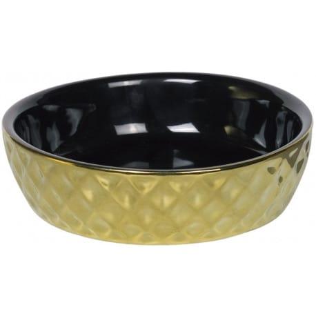 Nobby GOLD keramická miska pro kočky černá se zlatým dekorem 14x4cm/0,25l