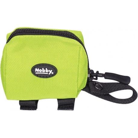 Nobby RIO zásobník na sáčky neonově zelený 7,5 x 4 x 5 cm