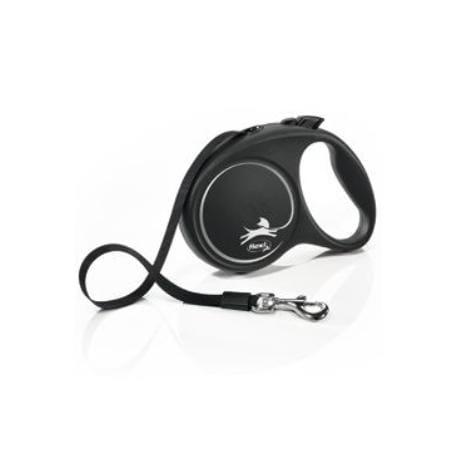 Vodítko FLEXI Black Design S pásek 5m/15kg stříbrnáNEW