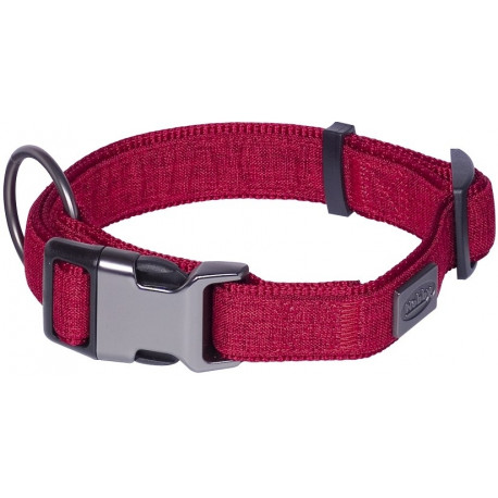 Nobby LINEN DELUXE obojek nylon červený L-XL 45-65 cm