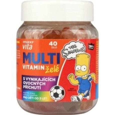 MaxiVita kids The Simpsons MULTIvitamin želé 133g