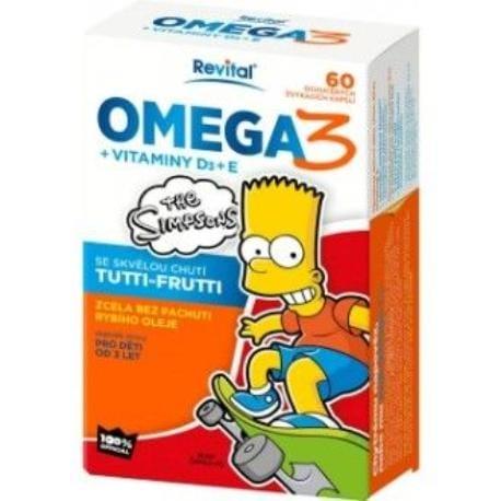 Revital The Simpsons OMEGA 3 s vitamíny D3aE 38,1g