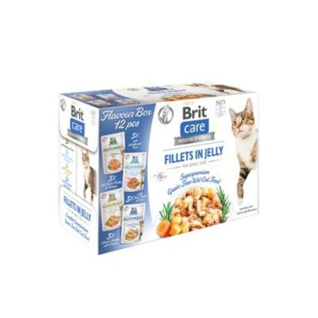 Brit Care Cat Fillets in Jelly Flavour box 12x85g