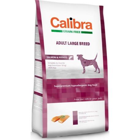 Calibra Dog GF Adult Large Breed Salmon 12kg NEW