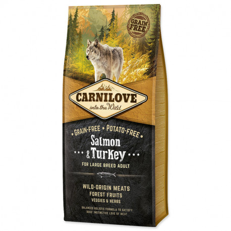 Carnilove Dog Salmon & Turkey for LB Adult  NEW 12kg