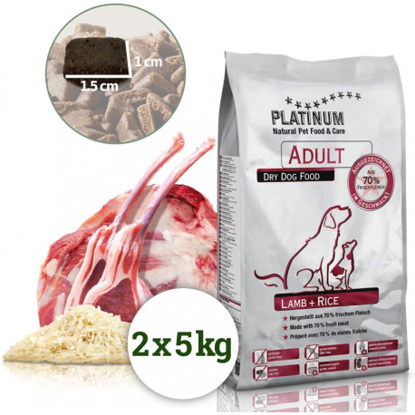 Platinum Adult Lamb+Rice 10kg