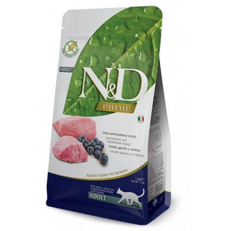 N&D PRIME CAT Adult Lamb & Blueberry 10kg