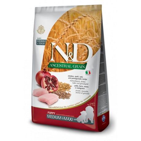 N&D LG DOG Puppy M/L Chicken & Pomegranate 2,5kg