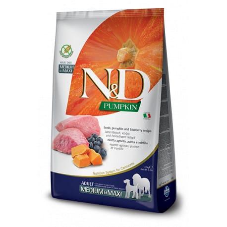 N&D GF Pumpkin DOG Adult M/L Lamb & Blueberry 2,5kg