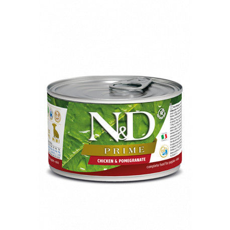 N&D DOG PRIME Puppy Chicken & Pomegranate Mini 140g