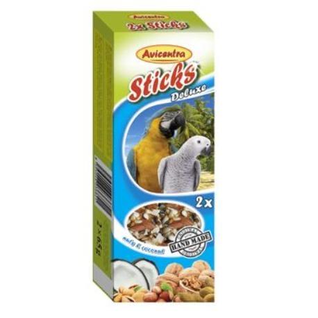 Avicentra tyčinky velký papoušek - ořech+med 2ks