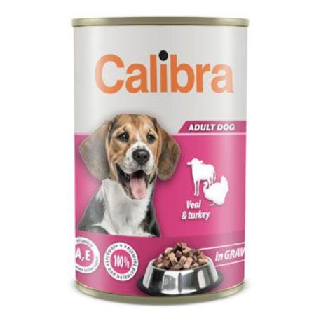 Calibra Dog  konz.Veal&turkey in gravy 1240g NEW