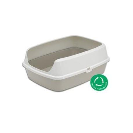 WC kočka MARYLOO 50 cm s vysokým okrajem, šedá