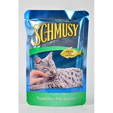 Schmusy Cat kapsa Fish tuňák+zelenina 100g