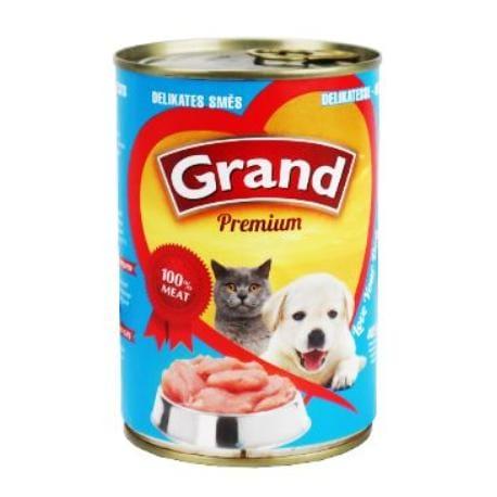 GRAND konz. šteňa, mačka Delikates mäs.zmes 405g