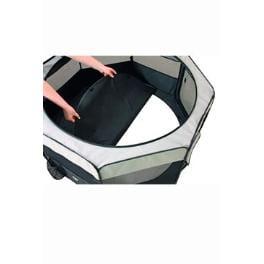 Box sklád. nylon štěňata 92x92x43cm grey/black KAR 1ks