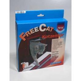 Dvířka kočka plast Hnědá 2P Freecat Classic Trixie 1ks