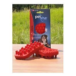 PET and ME kartáč pro psy, dlouhá srst, červený
