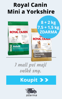 Royal Canin Mini 8 kg + 2 kg a Yorkshire 7,5 kg + 1,5 kg zdarma